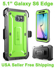 Genuine 100% Original SUPCASE Galaxy S6 Edge Full Body Rugged Holster Case Green