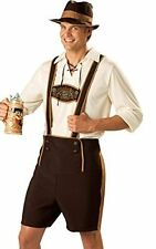"Mens 3 Piece Octoberfest Beer Festival Fabric Lederhosen Up to 36"" Waist L/XL"