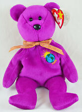 "TY BEANIE BABIES ""MILLENNIUM"" BEAR Great Condition RETIRED Very Rare - 4 ERRORS"
