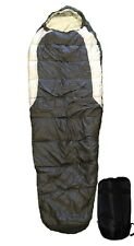 Adult Mummy Type Camping Sleeping Bag with Carrying Case - Black and Grey