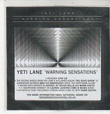 (CZ523) Yeti Lane, Warning Sensations - DJ CD
