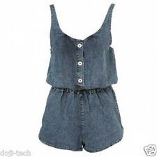 BNWT Topshop Vtg Acid Wash Bleach Blue Denim Playsuit Jumpsuit Romper 10 38 US6