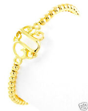 Urban Trend Scroll Script Gold Initial Letter ' U ' Monogram Stretch Bracelet