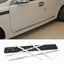 Chrome Side Skirt Accent Door Molding 4Pcs For KIA K5 Optima 2011 2015