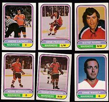 1975 O-PEE-CHEE WHA Team SET Lot of 6 San Diego MARINERS JETS NM- LACROIX OPC