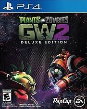 PS4 Plants vs Zombies DELUXE Edition Garden Warfare 2 NEW Sealed Region Free USA