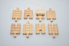 Vintage Thomas wooden CLICKETY-CLACK Tracks :  SHORT CONNECTORS (set of 8)
