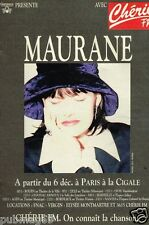 Publicité advertising 1994 Concert Maurane Paris La Cigale avec Radio Chérie FM