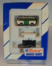 Roco 1/87 1384 Set Polizei VW T3 Bus mit Pferde-Anhänger OVP #1054