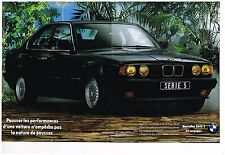 Publicité Advertising 1990 (2 pages) BMW Serie 5