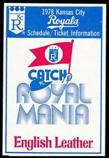 1978 KANSAS CITY ROYALS ENGLISH LEATHER BASEBALL POCKET SCHEDULE