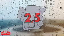 Porsche 924 944 2.5 engine window sticker - Retro 2.2 style rear screen decal