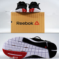 Reebok ZCUT Men Kicks Black Cardio Trainer Shoes LES MILLS Heel Strap Sneakers