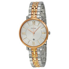 Fossil Jacqueline Silver Dial Tri-tone Stainless Steel Quartz Ladies Watch