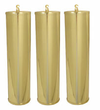 NEW Grandfather Clock Polished Solid Brass Weight Shell Set -60mm x 245mm(WS-10)