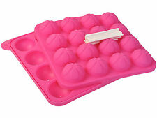 New Cake Pop Tasty Top Mold Tray Silicone Baking Flex Pan Easy Instant 16 Cup