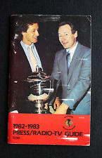 Original Vintage 1982-83 CHICAGO BLACK HAWKS Hockey Press/Radio-TV Guide
