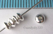 20x STERLING SILVER SEAMLESS SAUCER BEADS 3.6mm 1.9mm (#062)