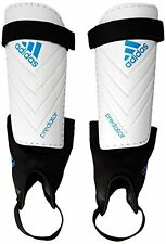 adidas Predator Club Shin Guard, Small, White Solar Blue Black