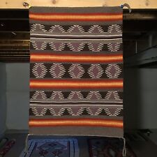 1980's CHINLE NAVAJO RUG 25.50x35 Weaving Textile Native American Blanket