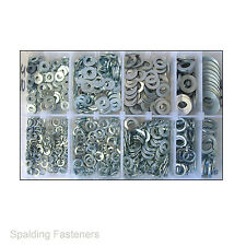 Assorted Imperial Zinc Plated Steel Flat & Spring Washers