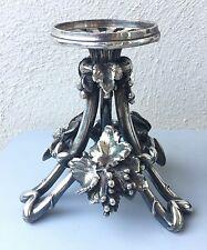Maison Christofle, beau pied, support porte coupe en bronze argenté, métal signé