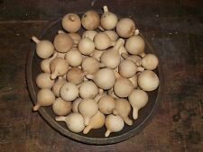 """15 SM 2"""" Long Primitive Dried Spinner Gourds Early Homestead Bowl Filler Decor"""