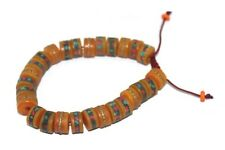 Tibetan Mosaic Amber prayer beads bracelet wrist mala Adjustable wrist mala yoga