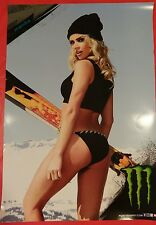 Hot Blonde Snow Bunny MONIKA - MONSTER ENERGY Promo (22 x 15.5) NEW!!
