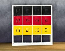 12er Set Tür Deutschland Fahne Flagge für Fan Regal Ikea Expedit Kallax XXXL *