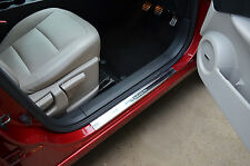 CHROME DOOR SILLS SILL COVERS SCUFF PROTECTORS TRIM SET STEEL FOR NISSAN QASHQAI