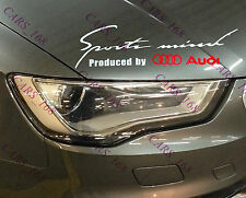 ☆New☆ Headlight Eyebrow Car Stickers Decals Graphic Vinyl For Audi (White)