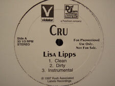 "CRU + BLACK ROB - LISA LIPPS b/w WRECKOGNIZE (12"") 1997"