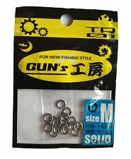 D-Stream TR01 Gun's Round Solid Ring for Jigging size M / 100lb / Ø4.0mm (20pcs)