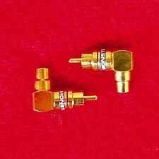 1 pair of Monster Cable 24k gold-plated premium right-angle RCA adaptors ARAMF-H