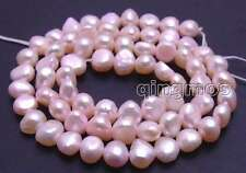 """SALE 6-7mm Natural Light Pink Freshwater BAROQUE Pearl Loose Bead 14""""-los625"""
