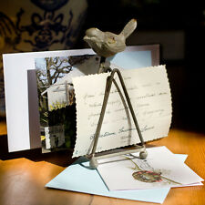 Iron Letter Mail Holder with Bird Accent Shabby Cottage Chic