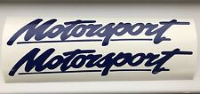 Motorsport 2 x logo 200mm decal graphics stickers  JDM for Ford Cars Drift Race