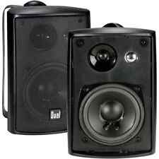 Black Wall Mount Audio Sound Stereo Television Home Party Office Speaker Set ...