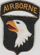 WW 2 US Army 101st Airborne Division Patch with attached tab Inv# CA568