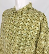Royal Robbins Yellow Green Linen Blend S/S Casual Shirt Men's 2XL Travel Outdoor