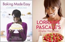 2 x Lorraine Pascale HB Books Baking Made Easy & A Lighter Way To Bake Cooking