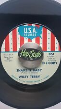 WILEY TERRY / MISS ANN LITTLES 45 RE-SHAKE IT BABY - GREAT 60s USA SOUL 2 SIDER