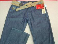 Women's 4 STROKE JEANS, w/belt, Size 29, Dark Wash w/light bl stitching, NWT