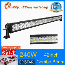 """42"""" 240W COMBO LED LIGHT BAR OFFROAD DRIVING LAMP WORK SUV ATV CAR 4WD JEEP 300W"""