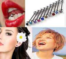 10pcs Colorful Ball Tongue Lip Bar Rings Barbell Body Piercing Stainless Steel H