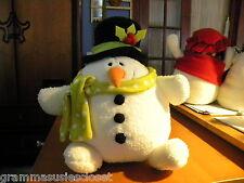 """GUND ROLLY POLLY SNOWMAN  10"""" TALL  CUTE"""