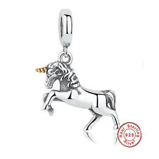 Stirling Silver Unicorn Charm (Charm Necklace Bracelet Pandora)