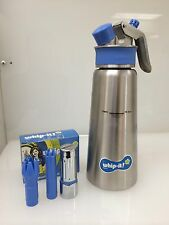 Whip Cream whipper dispenser cream chargers 16oz 1/2 liter REFURBISHED STAINLESS