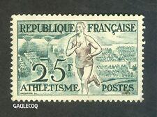 FRENCH POSTAGE - 1953 HELSINKI OLYMPICS - ATHLETISME 25F POSTES - STAMP